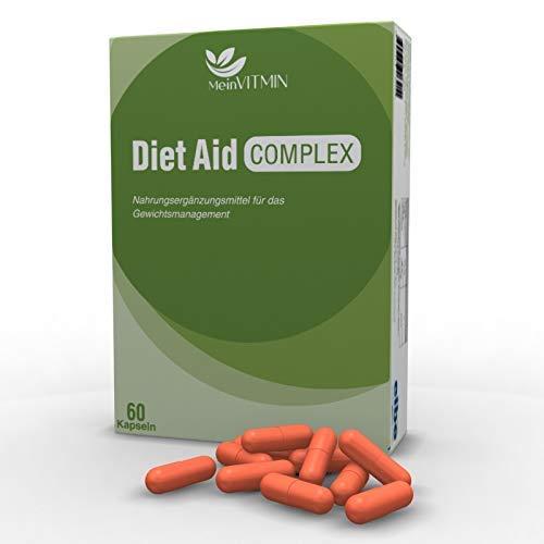 Mein VitMin Diet Aid Complex Gewichtsmanagement 60 Kapseln versiegelt mit Garcinia Cambogia und Chrom ideal zur Unterstützung einer Diät