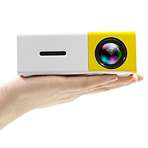 Camecho Mini Portable Projector LED Video Home Theater, Built-in Speaker, 1080P Full Color Media Player Personal Cinema TV Laptop Game - Entertainment Projectors