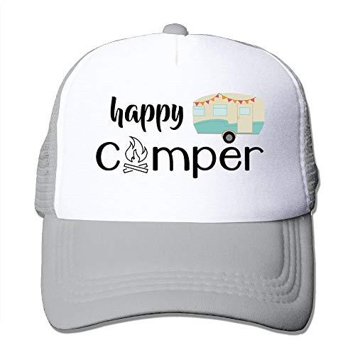 KKAIYA Happy Camper Mesh Male Cute Trucker Baseball Hat