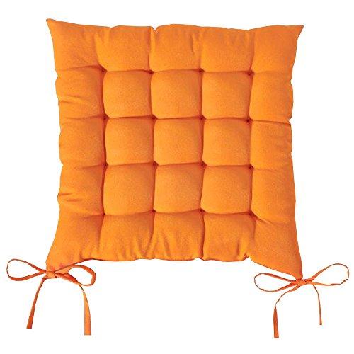 TODAY - Cojín Acolchado de poliéster para Silla, Modelo Chantilly, 40 x 40 cm, poliéster, Naranja, 40x40x2 cm
