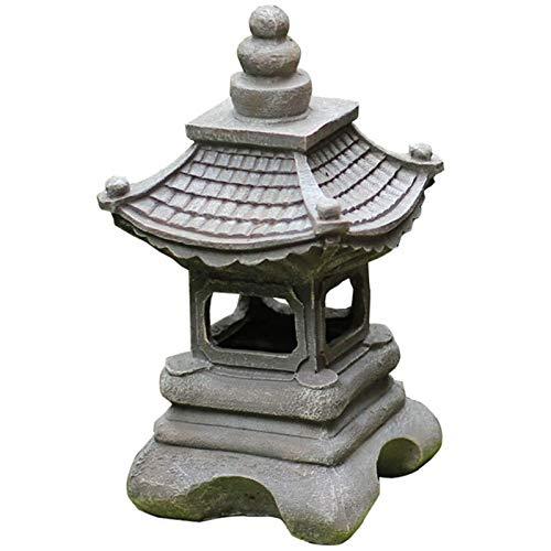QILIN Lampada da Terra per Esterni, Lampada da Giardino Giapponese con Lanterna in Pietra, Lampada da Giardino per Villa, Decorazione da Tavolo per Interni