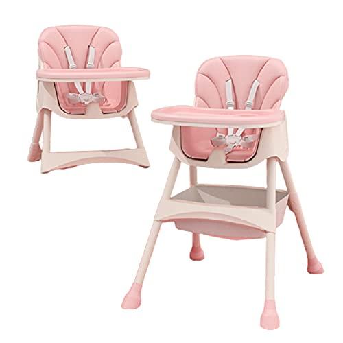 WYYUE Trona Doble Bandeja Extraible para Bebe - Altura Regulable Silla De Comer - High Chair Crece con el Niño 6 Meses - 4 Años