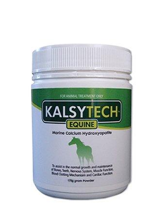 Kalsytech Equine Premium Horse Proven Calcium Supplement 175 Gram Tub Natural Organic to strengthen and develop Bone and improve Bone Density