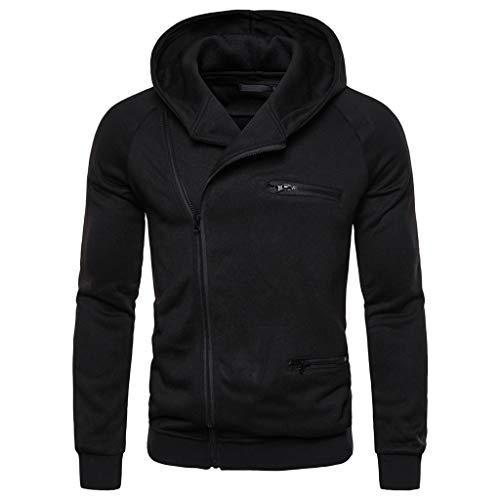 Zip Kapuzenpullover Herren Sweatshirt für Herren, Holeider Kapuzenjacke Langarm Zipper Hoodie Herren Einfarbig Sweatjacke für Männer Casual Mode Streetwear
