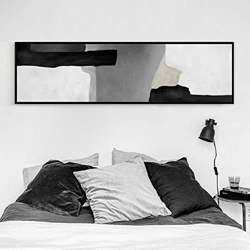 oioiu Pintura de Tinta en Blanco y Negro Abstracto Chino póster de cabecera Impresiones Sala de Estar Dormitorio decoración Arte Pared Foto Graffiti Retro Estudio Cafe