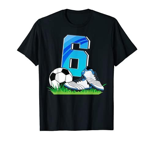6. Geburtstag Fußballtrikot Fußball 6 Jahre alt Jungen T-Shirt