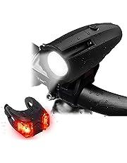 OxyLED 自転車 ライト ヘッドライト テールライト付き led 自転車ライト 防水 usb 充電式 高輝度 6モード対応 IP65 USB 充電 明るい 懐中電灯兼用 ブラック 防振 BL01