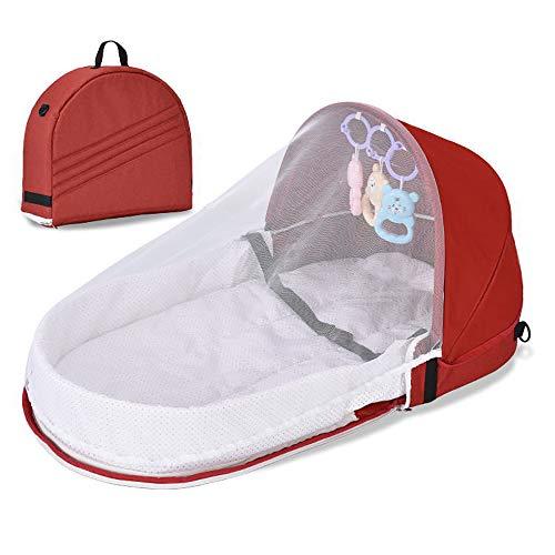 Cuna plegable, cama de bebé portátil apta para bebés de 0-12 meses,...