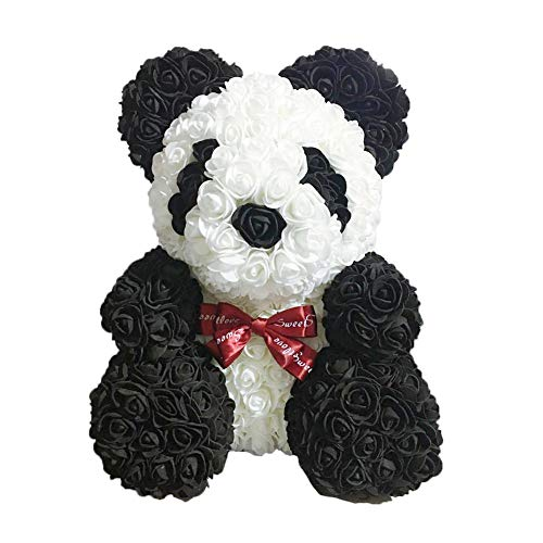 Starter Rose Panda - Poupée Rose Artificielle Faite Main De Fleur De Simulation De PE pour des Cadeaux De Petite Amie, Cadeaux d'anniversaire Créatifs De Valentines d'anniversaire, 452828cm.