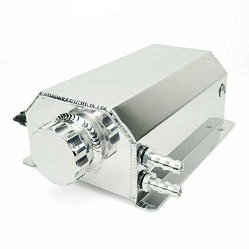 Heinmo 2 Litre Silver Black Universal Aluminum Alloy Car Engine Oil Catch Can Tank Car Reservoir Tank 2000ml Auto Anodized Aluminum can