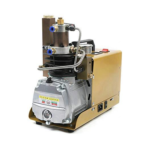 1.8kW 4500PSI Elektrische Kompressor Hochdruckluftpumpe Satz Filter Kompressorpumpe Atemluftkompressor Tauchkompressor Tauchen Hochdruck Luftpumpe Wasserkühlen 30MPA