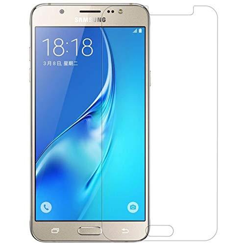 MUNDDY Protector de Pantalla para Samsung Galaxy J5 2016,J510 Cristal Vidrio Templado Espesor 0,30 mm, 2.5D Round Edge, [9H Dureza] [Alta Transparencia] [Ajuste (2 Protectores)