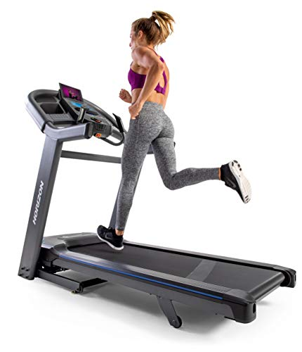 Horizon Fitness 7.4AT Studio Series Treadmill, 22x60 Deck, Advanced Bluetooth, Lose 27% Body Fat with SPRINT8, Ready for Advanced Workouts, Black