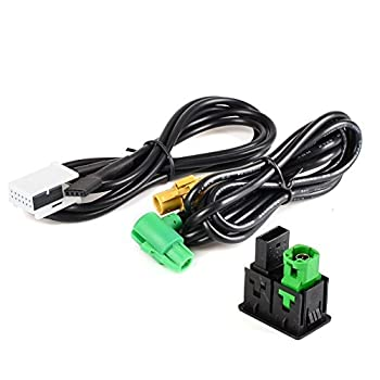 Fevas AUX in USB Switch Cable Plug for VW Radio RCD510 RNS315 RCD030 RCD300 RNS510 -  Brand  New