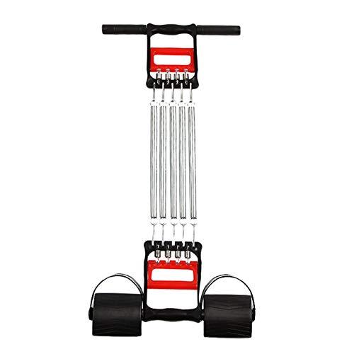 YLJY Inicio Gym Fitness Equipment Multifunción Spring Pie Látiles Ajustable Deportes Fitness Hahane Brazo Fuerza Tres usos Tensión de Cuatro Tubos Masculino (Size : Three Purpose Tension)