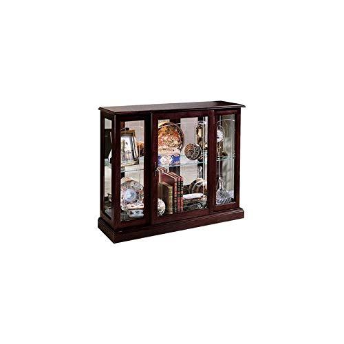 Home Fare Ridgewood Cherry Mirrored Curio Console