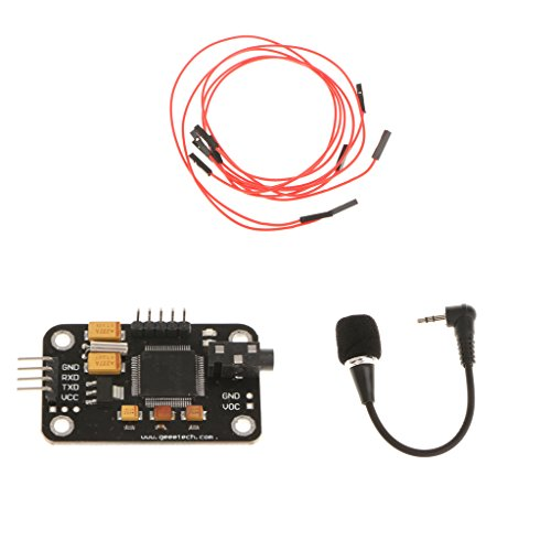 Sharplace Speech Voice Recognition Module & microphone with 4Pin Cable for Arduino
