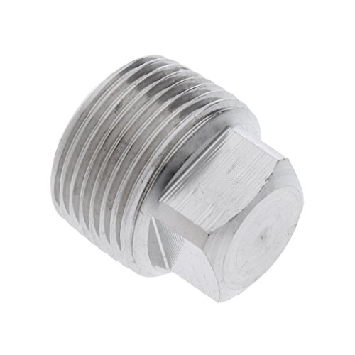 MagiDeal Stainless Steel Garboard Drain Replacement Plug for Boats Marine - Silver, 3/4 inch