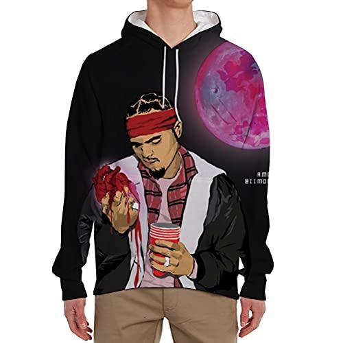 Chris Brown Pullover Hombres Sudadera Ligera Sudadera Casual Activa Sudaderas Sudaderas Generas y Dignificadas Abrigos al Aire Libre Moda Temperamento Outwear Outwear Unisex (Color : A04, Size : S)