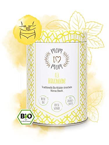 Mom to Mom® Bauchliebe - Schwangerschaftstee 1. Trimester (Bio-Zertifiziert) - Praktische Dose (nachfüllbar) - 50g loser Bio Qualitäts Tee