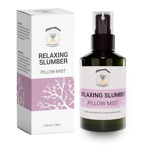 Spray de almohada para dormir mejor - Spray relajante de lavanda totalmente natural elaborado con 8 aceites esenciales - Formulado en San Francisco