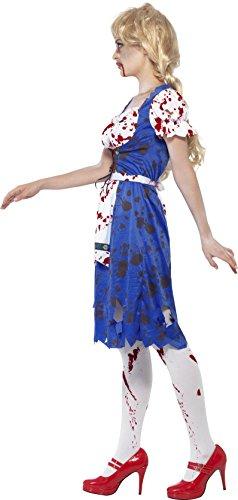 SMIFFYS Smiffy's 24319M - Zombie Bavarese Femminile Costume con Dress, Blu, M