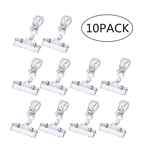 Plastic Merchandise Sign Clip Draaibaar Pop Clip-on houder Stand Prijs Display Houder Pack van 10 Clear
