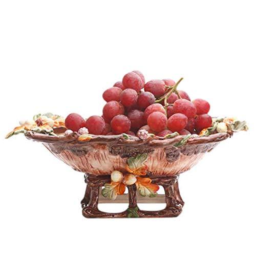 CJH Keramiek in reliëf in Amerikaanse stijl Tray Modern Living Room Fruit Bowl Fashion fruitschaal Large Fruit Bowl Fruitmand
