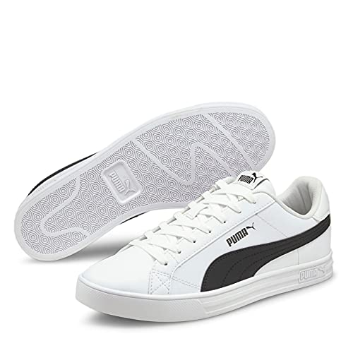 PUMA Herren Smash Vulc 3 Klassische Sneaker Turnschuhe Weiß/Schwarz 42