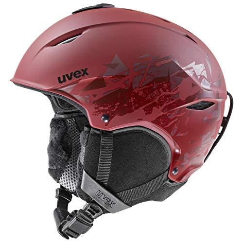 uvex Unisex- Erwachsene, primo style Skihelm, rusty red mat, 52-55 cm