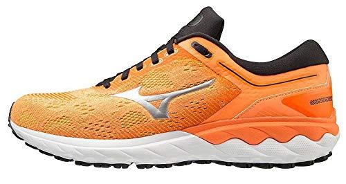 Mizuno Wave SKYRISE, Scarpe da Running Uomo, Arancione (Shocking Orange Nimbus Cloud Black), 43 EU