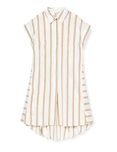 Silvian Heach Dress Cuanda Vestito, Bianco (Milk/Cath. Milk/Cath.), Medium (Taglia Produttore:M) Donna