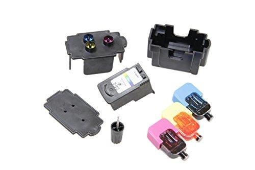 Kit DE FÁCIL Recarga para Cartuchos de Tinta Canon 545, 546, 545 XL, 546 XL Negro y Color, Tinta Incluye Clip y Accesorios