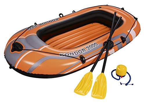 Bestway 61062 - Bootsset 198 x 122 cm - Schlauchboot mit Luftpumpe und Paddel