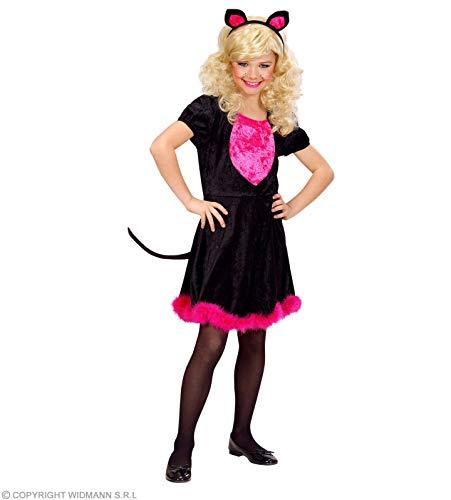 Widmann-WDM69017 badpak meisjes, roze zwart, WDM69017