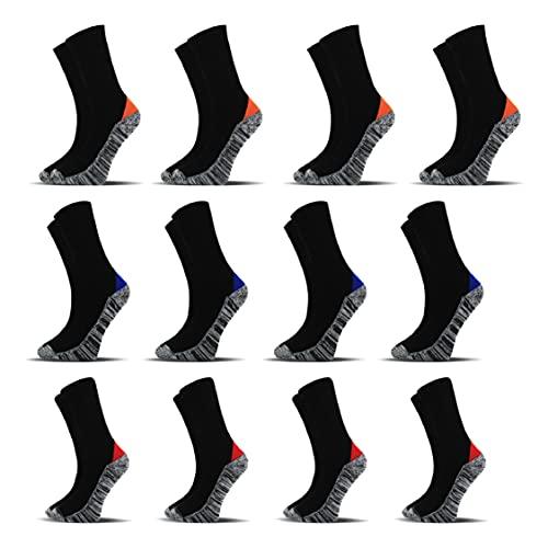 Socksberg Arbeitssocken Herren lang (12 Paar) | Langlebige & Fusselfreie Anti Schweiß Socken | Work Socken | Warme Arbeitssocken Winter & Sommer | Arbeitsstrümpfe, Arbeits Socken 43-46