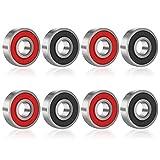 JZZJ 8 Piezas de Rodamientos Rodamientos de Skate Cojinetes de...