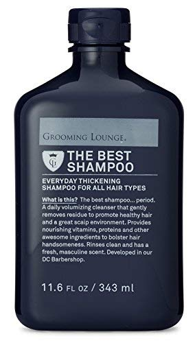 Grooming Lounge Best Shampoo, Men's Volumizing Shampoo, Helps Thicken Hair With Biotin. All Hair Types, Sulfate-Free, Paraben-Free, 11.6 oz.