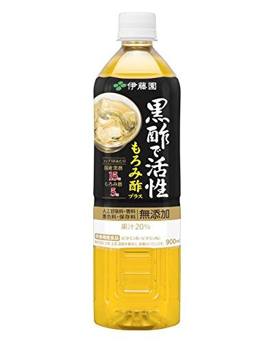 伊藤園 黒酢で活性 もろみ酢プラス 900mlペットボトル×12本入×(2ケース)