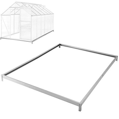 TecTake Base para Invernadero de jardín Acero galvanizado Base sólida 375x190x12 cm
