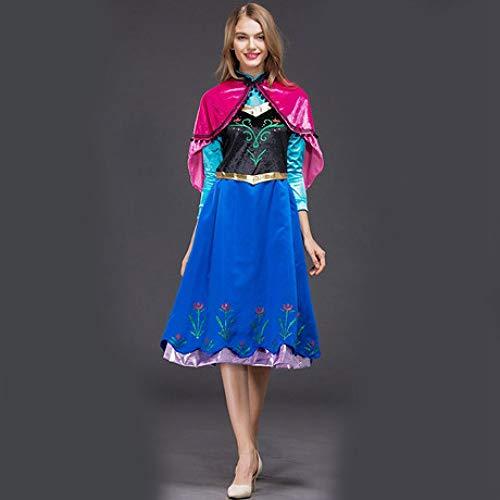 YyiHan Halloween Kostüm, EIS-Prinzessin Anna Aisha Prinzessin Erwachsener Kleider Cosplay Makeup Halloween Partei Kostüme Stage Performance Kostüme