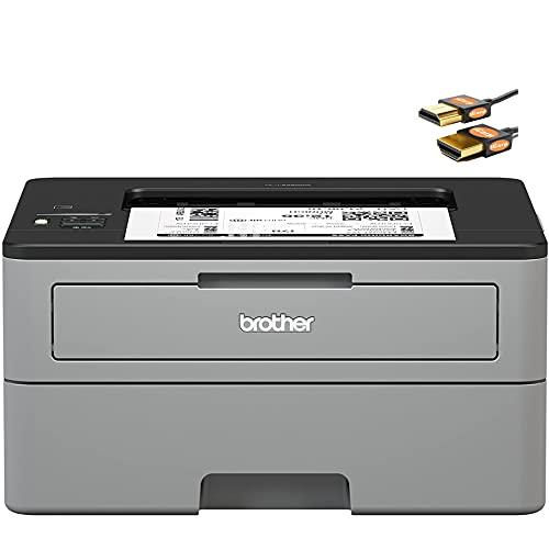 Brother HL L2300 Series Compact Wireless Monochrome Laser Printer - Mobile Printing - Auto Duplex Printing - Up to 32 Pages/min - Up to 250 Sheet Paper - 1-line LCD Display + HDMI Cable