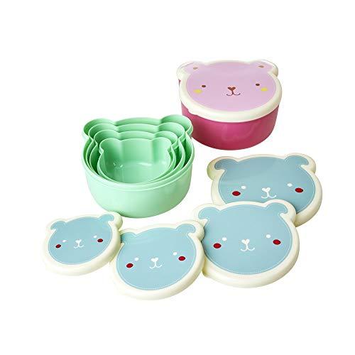 Rice Lunchbox 4er Set mit Tiermuster