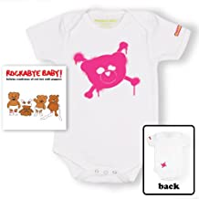 Rockabye Baby! Red Hot Chili Peppers + 100% Organic Cotton Bodysuit (White/Pink)