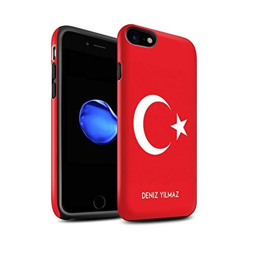 Stuff4 Telefoonhoesje/Cover/Skin/IP-3DTBM / Aangepaste nationale vlag collectie Apple iPhone SE 2020 Turkije/Turks