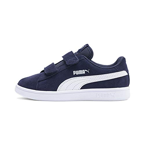 PUMA Unisex Kinder Smash v2 SD V PS Sneaker, Peacoat White, 31 EU