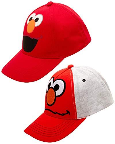 Sesame Street Boys Elmo Cotton Baseball Cap (Ages 2-4), Elmo Red/Grey, Size Age 2-4'