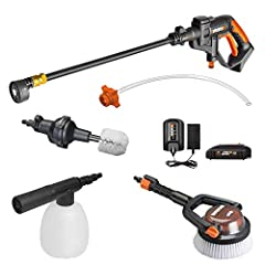 First truly portable power cleaner that lets you easily and quickly clean and maintain all your outdoor spaces and gear Attaches to typical garden hose or draws water from any fresh water source like a bucket, pool or lake Max PSI = 320 and Max Water...