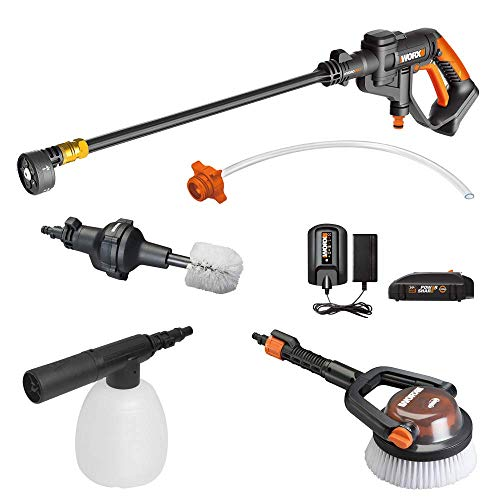 WORX WG625.4 20V Cordless Hydroshot Portable Power Cleaner with Accessories Kit Battery and Charger Included