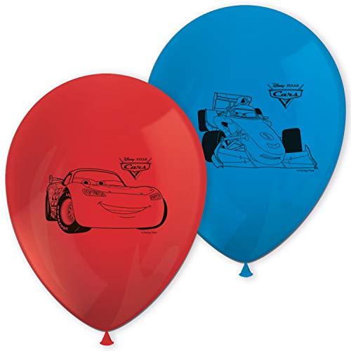 Procos-84876 Globos de Coches Impresos, color azul/rojo (Ciao Srl 84876)